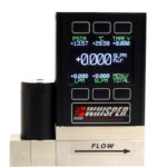 Whisper-series mass flow meter, shown with optional color display