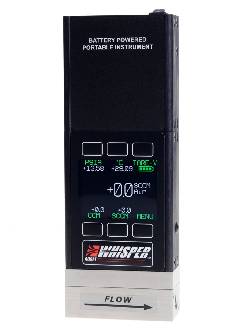 """ALICAT """"Whisper"""" Series Portable Flow Calibrator, optionally available with color display and backlight"""