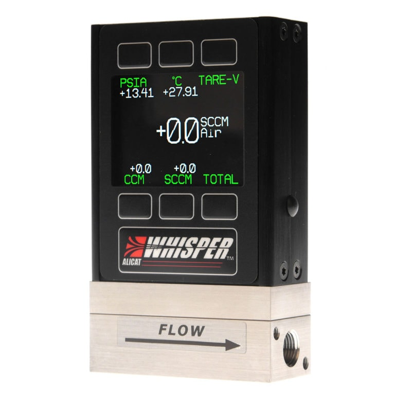 "ALICAT ""Whisper"" Series Flow Meter, optionally available with color display and backlight"