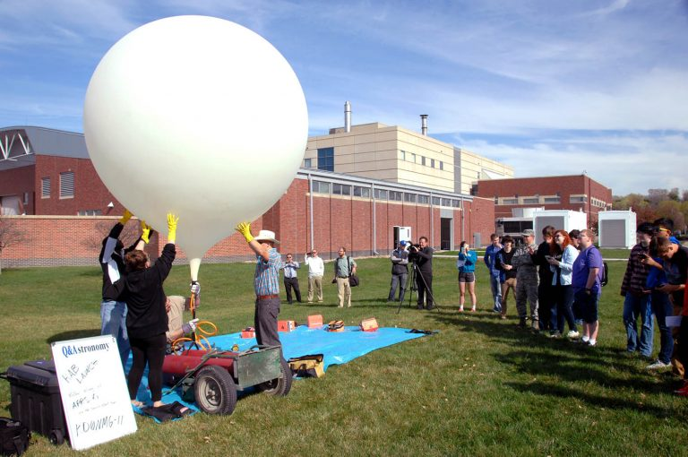 High altitude balloon launch.